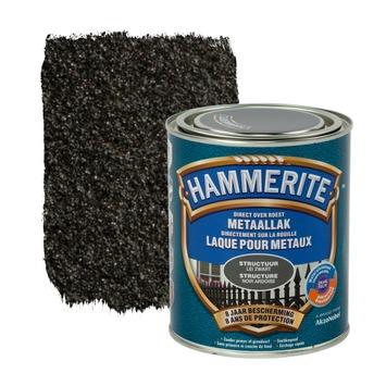 Hammerite metaallak structuur mat leizwart 750 ml