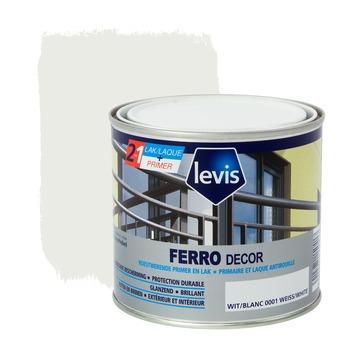 Levis Ferro Decor grondverf en afwerkingslak hoogglans wit 500 ml
