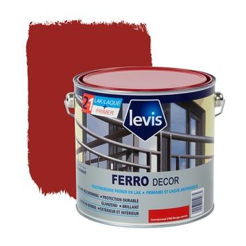 Levis Ferro Decor grondverf en afwerkingslak hoogglans karmijnrood 2,5 L