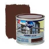 Primer et laque pour métaux Ferro Décor Levis brillant brun marron 500 ml
