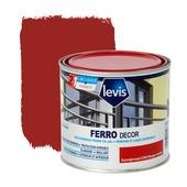 Primer et laque pour métaux Ferro Décor Levis brillant rouge carmin 500 ml