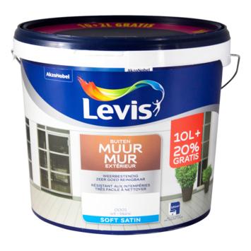 Peinture Mur Extérieur Levis satin blanc 10+2 L
