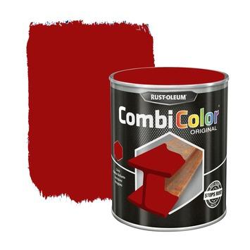 Rust-Oleum CombiColor metaalverf hoogglans RAL3000  helderrood 250 ml