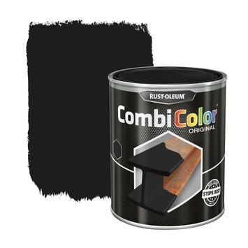 Rust-Oleum CombiColor metaalverf zijdeglans RAL9005 zwart 250 ml
