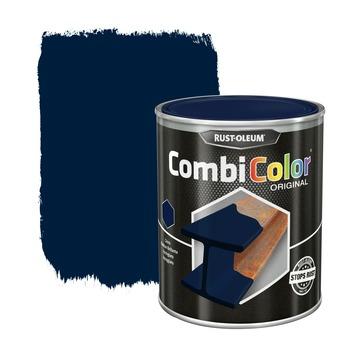 Rust-Oleum CombiColor metaalverf hoogglans RAL5011 staalblauw 750 ml
