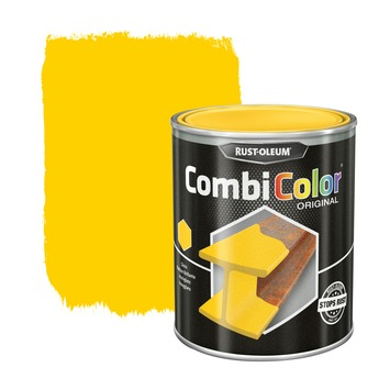 Rust-Oleum CombiColor metaalverf hoogglans RAL1021  koolzaadgeel 750 ml
