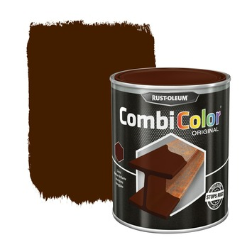 Rust-Oleum CombiColor metaalverf hoogglans RAL8011 notenbruin 750 ml