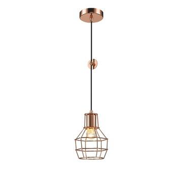Hanglamp Miran E27 exclusief lamp 40 W koper