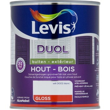 Levis Duol 2 in 1 hoogglans wit 750 ml