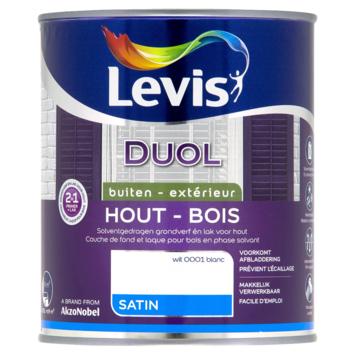 Levis Duol 2 in 1 zijdeglans wit 750 ml