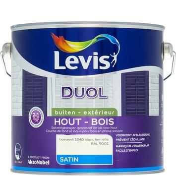 Laque/couche de fond Levis Duol blanc fermette satiné 2,5 L
