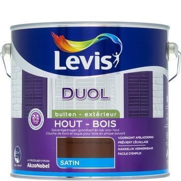 Levis Duol 2 in 1 zijdeglans notenbruin 2,5 L