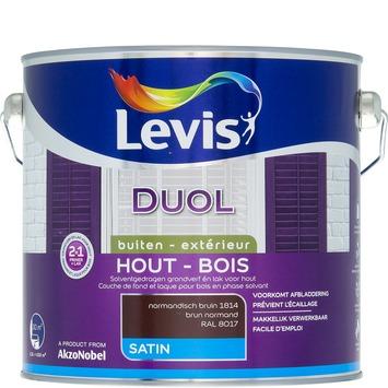 Levis Duol 2 in 1 zijdeglans normandisch bruin 2,5 L