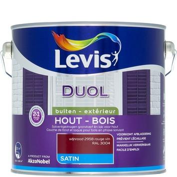 Levis Duol 2 in 1 zijdeglans wijnrood 2,5 L