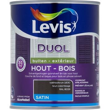 Levis Duol 2 in 1 zijdeglans vakhoutbruin 750 ml