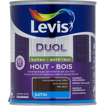 Levis Duol 2 in 1 zijdeglans normandisch bruin 750 ml