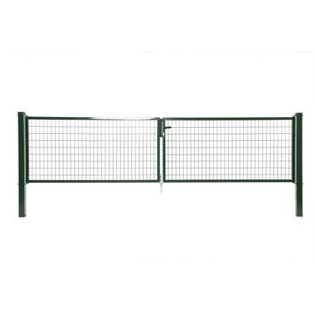 Dubbele poort Napoli ral 6005 groen 120x400 cm