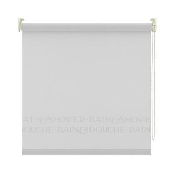 Store enrouleur pour salle de bains GAMMA 1892 blanc bord argenté 210x190 cm