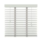 Store vénitien GAMMA 944 hout 50 mm blanc 100x130 cm