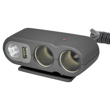 Boîtier 2 prises USB et éclairage Carpoint