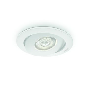 Spot encastrable LED intégrée Philips Asterope 4,5W rond orientable blanc