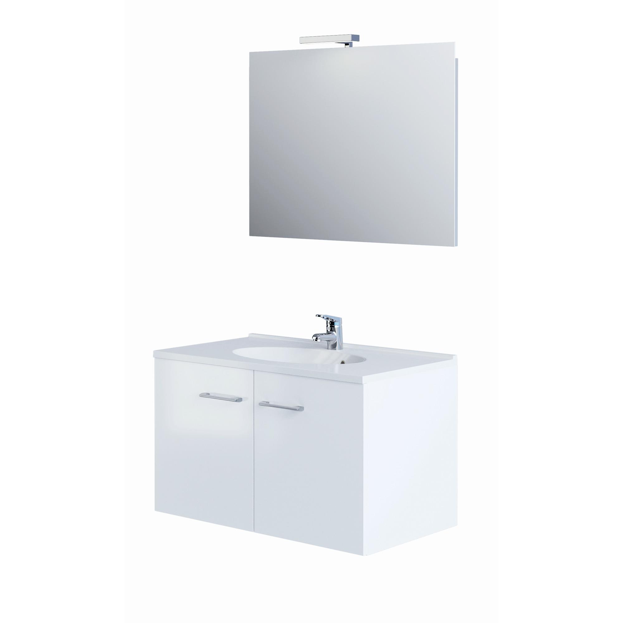 Allibert Bathroom Cabinets Allibert Smart Pack Badkamermeubel 80 Cm Glanzend Wit
