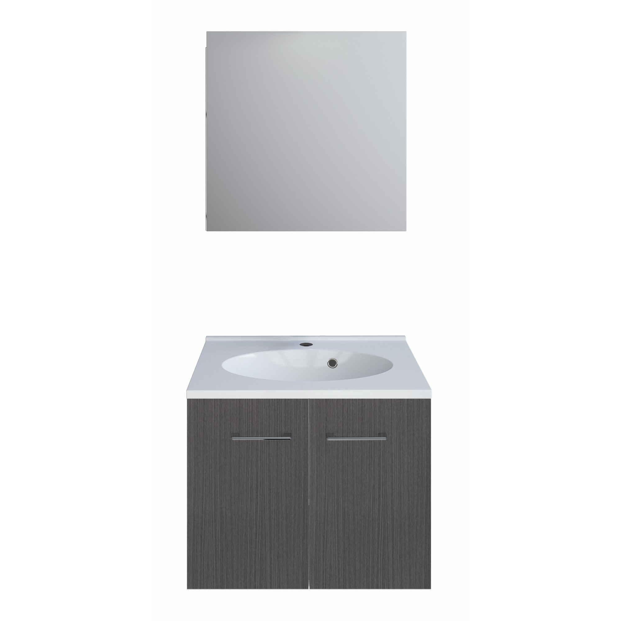 Allibert Bathroom Cabinets Allibert One Pack Badkamermeubel 60 Cm Grijs Eiken
