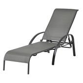 Chaise longue Toledo anthracite