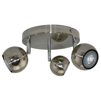 Support 3 spots GU10 Ronda GAMMA 3x LED 4W aluminium