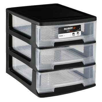 allibert babel ladenblok zwart 3 boxen 5 l box