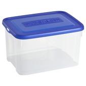 Boîte de rangement Allibert Handy transparante avec couvercle bleu 12 litres