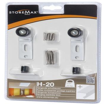 Jeu de roulettes pour portes coulissantes Storemax H20
