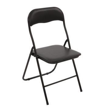 Chaise pliante métal 80x48x44 cm noir