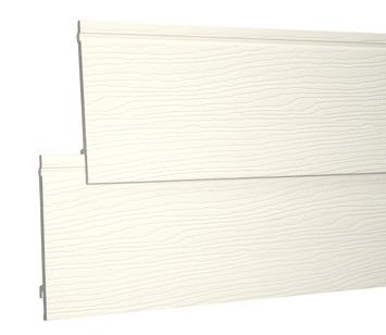 Clin de bardage simple Durasid RAL9001 500x16,7 cm 4 pièces 3,33m²