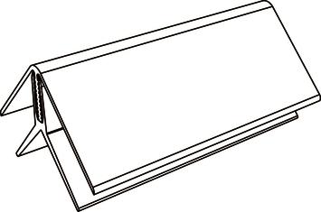 Profilé d'angle intérieur/extérieur Durasid RAL7016 500 cm