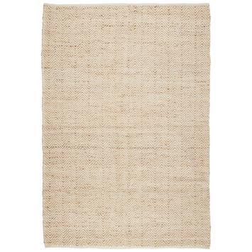 Tapijt Fez crème bruin zig zag 160x240 cm
