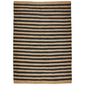 Tapis Safi rayé beige noir 160x240 cm