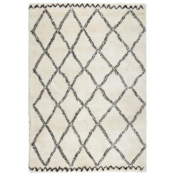 Tapis Varamin 160x230 cm noir/blanc