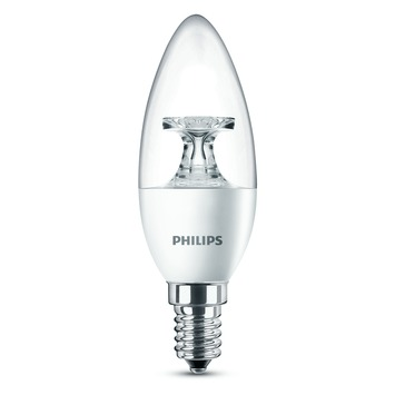 Ampoule flamme LED Philips E14 5,5 W = 40 W blanc chaud transparent
