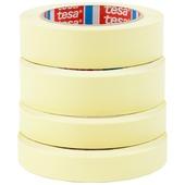 Tesa Universal afplaktape promo 2st 50 m x 30 mm + 2 st 50 m x 19 mm geel