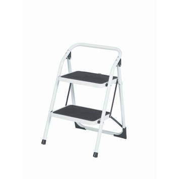 Escalo Big Step trapladder 2 brede treden wit