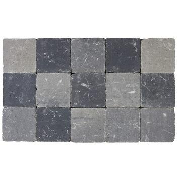 Kasseien Beton Getrommeld Zwart/Grijs 15x15x5 cm - 105 Stuks / 0,02 m2