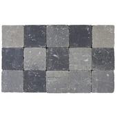 Kassei getrommeld 15x15x5 cm grijs-zwart