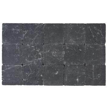 Pavé vibré 15x15x5 cm noir