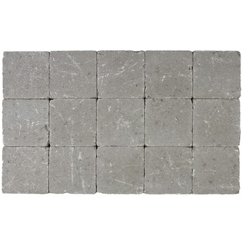 Pavé vibré 15x15x5 cm gris