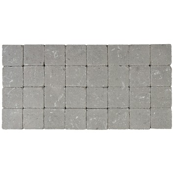 Kasseien Beton Getrommeld Grijs 10x10x4 cm - 1386 Stuks / 13,86 m2