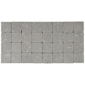 Kassei getrommeld grijs 10x10x4 cm