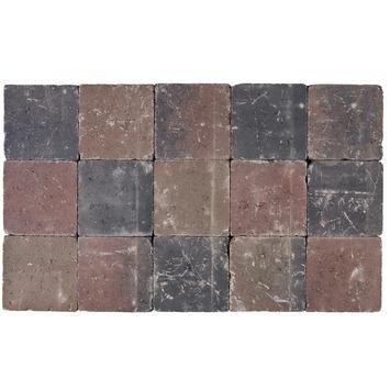 Kasseien Beton Getrommeld Bruin/Rood 15x15x5 cm - 105 Stuks / 2,42 m2
