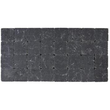 Kasseien Beton Getrommeld Zwart 10x10x4 cm - 1386 Stuks / 13,86 m2