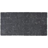 Kassei getrommeld zwart 10x10x4 cm
